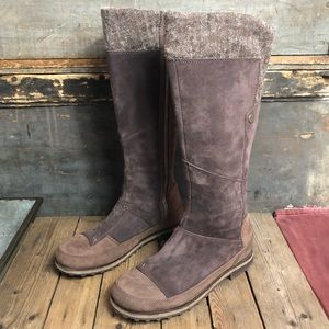 The North Face Leather & Suede Knee High Boots